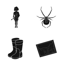 History nature art and other web icon in black vector