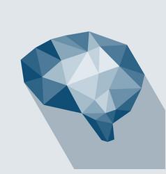 human brain polygonal geometric concept vector image
