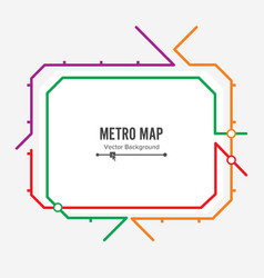 metro map fictitious city public transport vector image vector image