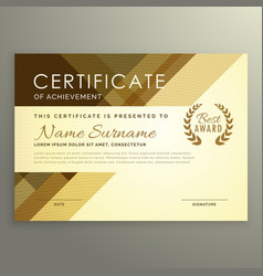 modern certificate design in premium style vector image vector image