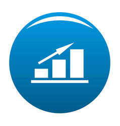 New chart icon blue vector