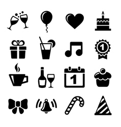 Party and Celebration icons vector image vector image