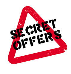 Secret offers rubber stamp vector