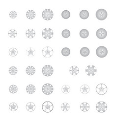 set of alloy wheel vector image