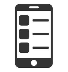 smartphone list flat icon vector image