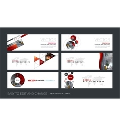 Set of modern horizontal website banners vector
