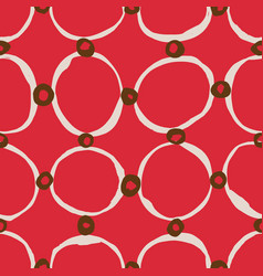 Sketchy circles seamless pattern vector