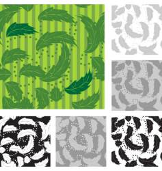 Foliage wallpaper pattern vector