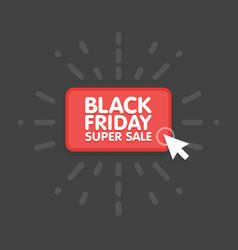 Black friday sale commerce design mouse click vector