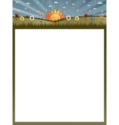 Nature poster vector