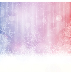 Snowflake background with blurry lights vector