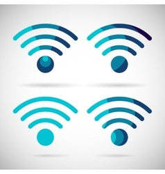 Wifi icon wireless internet connection flat design vector