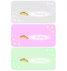 set of beautiful wedding invitation vector image