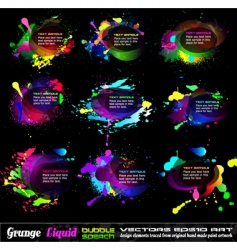 grunge bubble drops vector image