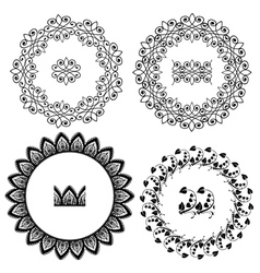 Ornament circle set 380 vector