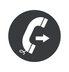 Monochrome round outgoing call icon vector
