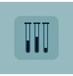 Pale blue test-tubes icon vector