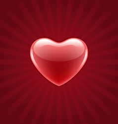 red shiny heart vector image