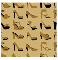 fashionable shoes vector image