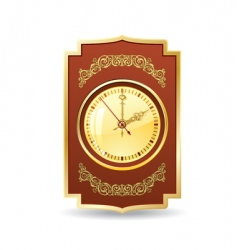 Retro clock vector
