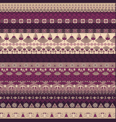 Ancient egyptian ornament tribal seamless pattern vector