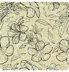 Bell thai flower seamless 2 grunge vector image vector image