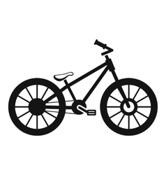 Bike icon simple style vector image vector image