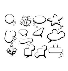 Bubble speech icons vector