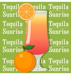 Cocktail tequila sunrise vector