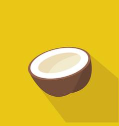 coconut cartoon flat icon brazil vector image vector image