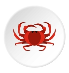 Crab icon flat style vector image