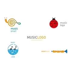 creative series logos on the theme music vector image vector image