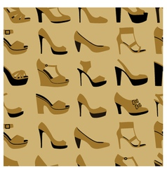 fashionable shoes vector image vector image