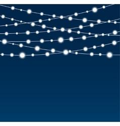 Garland star bulbs stars new year christmas vector