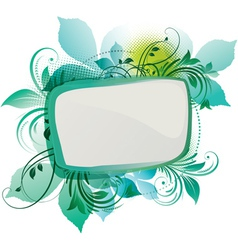 green floral background vector image