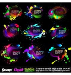 grunge bubble drops vector image vector image