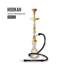 hookah symbol template vector image