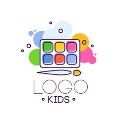 logo kids creative design template hand drawn vector image vector image