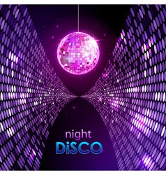 Neon disco ball vector image