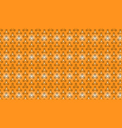 pattern outlined spinners on bright orange vector image