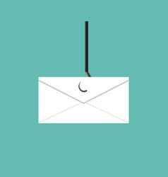 Phishing scams mail in design vector