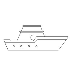 Powerboat icon outline style vector