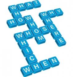 questions crossword vector image vector image
