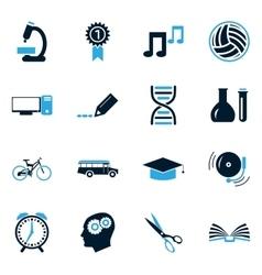 School Icons set vector image vector image