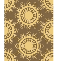 Seamless pattern in brown and yellow vector image vector image
