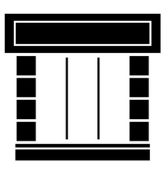 Shopfront the black color icon vector