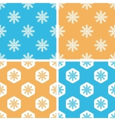 Snowflake pattern set colored vector