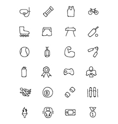 Sports hand drawn doodle icons 2 vector