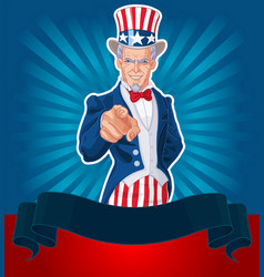 uncle sam wants you vector image