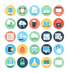 Web and networking flat icons 2 vector